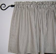 Ticking Stripe Curtains Ticking Stripe Curtains Navy Blue Black Aqua Gray