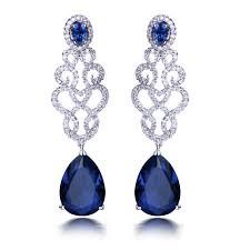 blue earrings blue and silver earrings