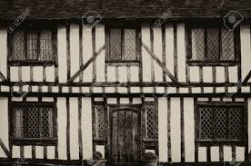 English Tudor by English Half Timbered Black And White Tudor Houses From Lavenham