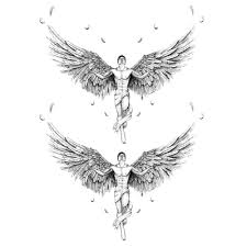 compare prices on back wing tattoos online shopping buy low price
