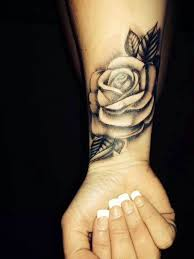 black and white rose wrist tattoo my ink addiction pinterest