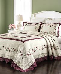 martha stewart collection prairie house bedspread and sham