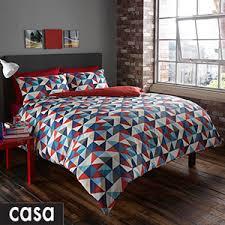 Postman Pat Duvet Set Buy Casa Maison Geometric Blue Duvet Set At Home Bargains