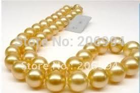 shell pearl necklace wholesale images Wholesales design 12mm natural south sea gold shell pearl necklace jpg