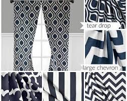 Navy Chevron Curtains Navy Stripe Curtain Panels Navy Blue Curtains Drapery Window