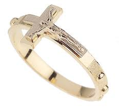 rosary ring two tone rosary ring 14k gold page 1 qvc