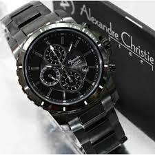 jam tangan pria exlusif alexandre christie ac 6141 original black