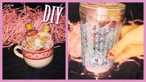diy gift cup for girls and women gift basket in a cup youtube