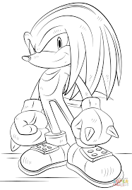 knuckles the echidna coloring page free printable coloring pages
