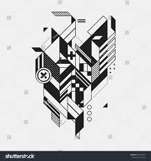 futuristic style abstract geometric element futuristic style isolated stock vector