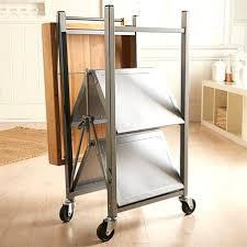 folding island kitchen cart folding island kitchen cart with brushed textured top oasis