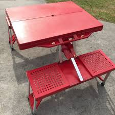 portable folding picnic table portable foldable picnic table with chairs for rent furniture