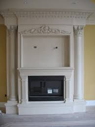 decoration simple stone fireplace mantels decor with glass front