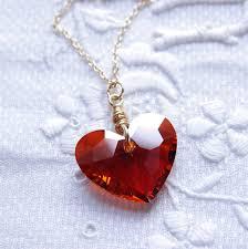 swarovski necklace red images Swarovski heart necklace valentine jewelry 14kt gold filled red jpg