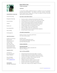Best Job Resume Templates Sample Resume For Accounting Position 13 Senior Professional