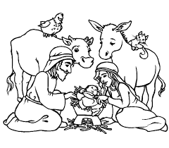 free printable religious christmas coloring pages eson me