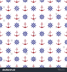 seamless nautical pattern red anchors blue stock vector 155947895