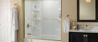how to install a glass sliding shower traditional style tub door