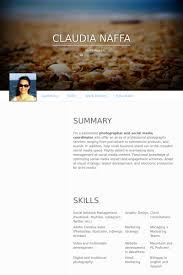 Sample Photography Resume by Social Media Coordinator Resume Samples Visualcv Resume Samples