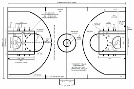 download court dimensions in basketball garden design