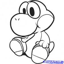 draw yoshi coloring pages print