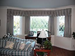 grey white stripped pattern basement window curtains for shady