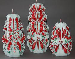 carved candles christmas cozy interior decor purple hand