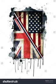 British Flag Shirts American Flagbritish Artamerican British Drawingvintage Flag Stock