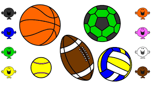 learn colors with sports ball coloring pages finger family nursery