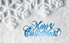 happy merry text on snow hd wallpaper