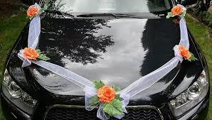 hochzeitsdekoration auto organza girlande mit 5 dekoration hochzeitsdekoration auto