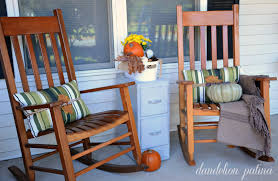 Old Rocking Chair On Porch Comforts Of Home Fall Front Porch 2014 Dandelion Patina