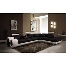 Decorating Chic Leather Sofa On Dark And Cream By Vig Furniture - White leather sofa design ideas