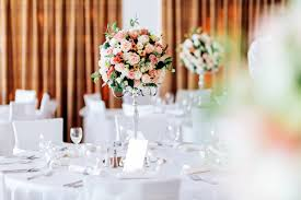 wedding flowers toronto candelabra centerpiece in coral and mint oakville