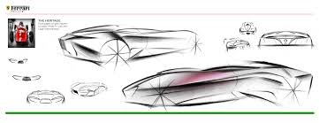 ferrari front drawing ferrari single seater concept on behance