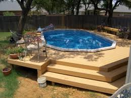above ground pools with decks newsonair pool patio designs ideas