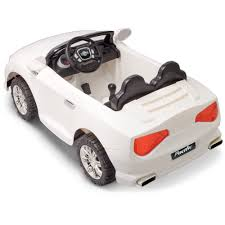white convertible volkswagen pacific cycle 12 volt battery powered convertible sports car