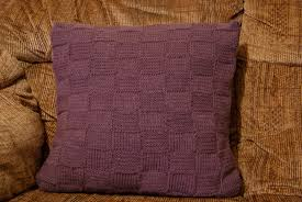 Knit Cushion Cover Pattern Em U0027s Knits Waffly Weavy Good Cushion Cover
