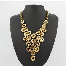 gold vintage statement necklace images Gold tone vintage statement necklace kittijewelry jpg