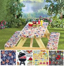 picnic table cover set 3 piece fitted picnic table bench seat cover set elastic fit patio