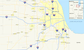 Map Chicago Chicago Interstates Map U2022 Mapsof Net
