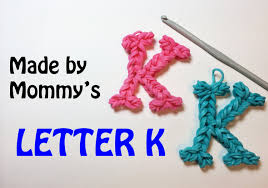 crochet bands rainbow loom bands letter k charm using just a crochet hook