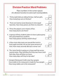 simple division word problems worksheet education com