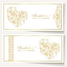 Invitation Cards Free Download Elegant Invitation Card For Wedding Vector 03 Vector Card Free