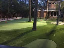 backyard putting green lighting houston celebrity greens