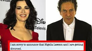 nigella lawson u0027s husband divorces her in a newspaper eater