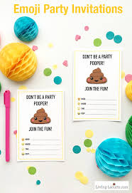 printable party invitations emoji party ideas and colorful printables