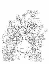 alice wonderland coloring coloring