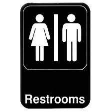 bathroom men mens restroom sign ebay