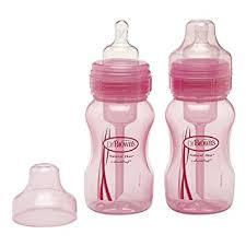 dr brown s wide neck bottle pink 8 oz 2 ct